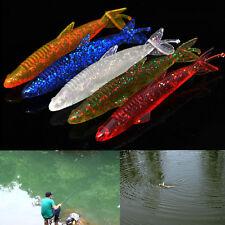 2pcs/lot 11cm suave cebo pesca señuelo Shad silicona Bass flexible carpa ceboSE
