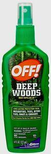 OFF DEEP WOODS INSECT REPELLENT SPRAY Gnats Mosquitoes Ticks Flies 8hr 6oz 21845