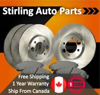 2000 2001 2002 for Pontiac Grand Am Front & Rear Brake Rotors and Pads