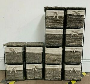 Four Woven Storage Basket Shelves USED Good Condition (Z2)(L)