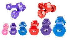 2x Hanteln Set Kurzhanteln Fitness Training Krafttraining Aerobic Gewichte Vinyl