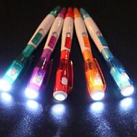 Novelty Stationery With Light Ballpoint Pen LED Light Ball Pens Flashlight Pen