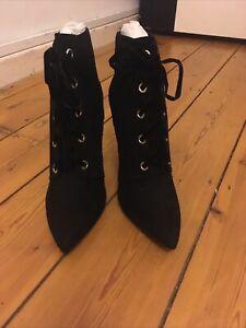 New Look Black Heel Boots Size Uk 8 Eur 42