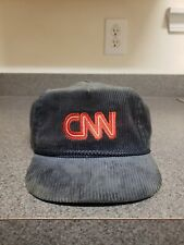 96b319c0472 VTG CNN Sports Corduroy Strapback Cap Dad Hat Red Embroidered Made USA  Trucker