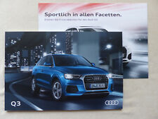 Audi Q3 S line selection TDI TFSI quattro - Prospekt Brochure 04.2016