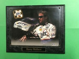 """Rusty Wallace Signed 8 x 10"""" Photo Nascar Wall Plaque Autographed"""