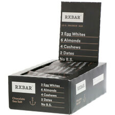 RX BAR RXBAR CHOCOLATE SEA SALT 12G PROTEIN BAR WHOLE FOOD 12 PACK 5/30/20