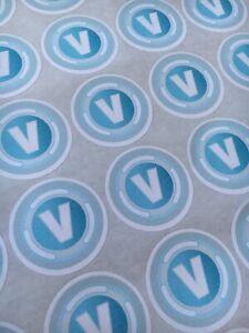 Vbucks V Bucks Inspired round labels, Sweet bags Cones parties 37mm x35 stickers