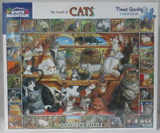 White Mountain 1000 Piece Jigsaw Puzzle THE WORLD OF CATS Item #135