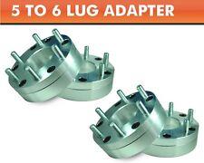 4 Wheel Adapters 5x5.5 to 6x5.5 ¦ Tacoma 6 Lug Wheels On Ram 1500