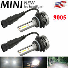 9005 HB3 Mini Size LED Headlight Conversion Bulb Hi/Lo Beam Replace HID Halogen