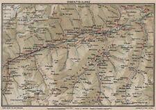 Rin. Flims Coira Falera Briel Andiast Waltensburg Disentis Ilanz 1930 Mapa