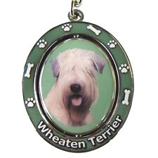 "Soft-Coated Wheaten Terrier ""Spinning"" Key Chain"