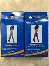 Ita-Med Sheer Pantyhose - Compression 1Nude1Blac Size Q+ (Set Of 2)