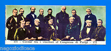 CENTENARIO UNITA D'ITALIA - Figurina-Sticker n. 171-172 - CONGRESSO PARIGI -Rec
