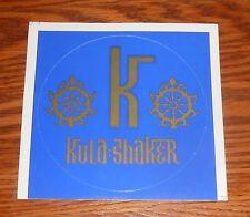 """Kula Shaker Sticker Circle Promo 5"""""""