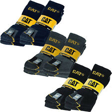 6 Pairs of CAT Caterpillar Mens Adults Heavy Duty Industrial Workwear Socks