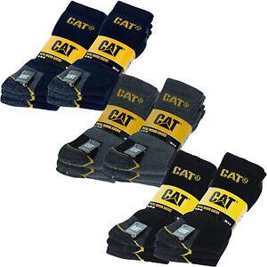 6 Pairs of CAT Caterpillar Mens Adults Heavy Duty Industrial Workwear Socks