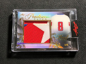 2020-21 LEAF PEARL ALEXANDER OVECHKIN PEARLESCENT PATCH GOLD SPECTRUM #ed 1/1