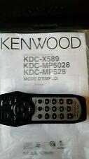 Kenwood car remote.case.manuel.