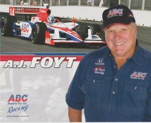 2009 A.J. Foyt ABC Supply Honda Dallara Indy Car Hero Card