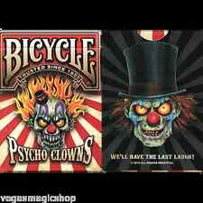 Psycho Clowns Deck Bicycle Playing Cards Poker Size USPCC Limited Edition Sealed