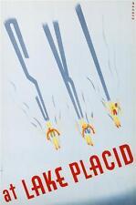Ski at Lake Placid Fine Art Poster Lithograph Sascha Maurer Hand Pulled S2