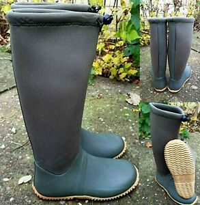 LADIES WOMENS WATERPROOF WELLIES WELLINGTON GREEN MUCKER SNOW BOOTS SIZE 3-8
