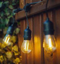 Outdoor String Festoon Lights / 12 Hanging Sockets, Parties, Weddings, Garden.