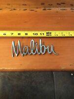 Vintage Chevy Malibu Emblem Badge Cursive Script Trim Metal Pins Chevrolet OEM
