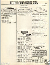 1965 PAPER AD Rafina Palsa Silver Eppinger Dardevle Critic's Choice Fishing Lure