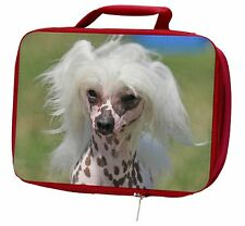More details for chinese crested dog insulated red school lunch box/picnic bag, ad-chc4lbr