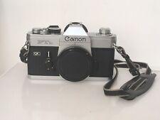 Vtg 70s CANON FTB(n) QL f1 35mm SLR FD lens camera BODY+Body CAP+EYECUP+STRAP EX