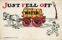 1905 VINTAGE COMIC JUST FELL OFF THE WATER WAGON CARTOON POSTCARD - UNUSED