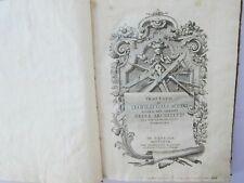 Gallaccini 1767 + 1771  2 books Architecture