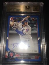 2018/ First Bowman Blue Refractor David Bote 9.5 +2 10s Graded