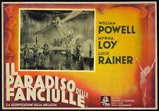 IL PARADISO DELLE FANCIULLE 1937 The Great Ziegfeld POSTER FOTOBUSTA CARTONATA