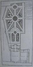Architecture. Plan general d'une maison de campagne a batir du dessein du Sr Blo