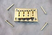 4 STRING BRIDGE FOR CIGAR BOX GUITAR OR ELECTRIC UKULELE - GOLD
