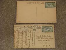 France, Scott# 122 on Postcards, 1 used 1 unused