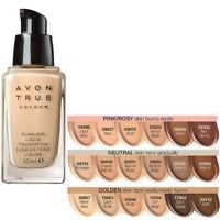 Avon True Colour Flawless Liquid Foundation // Buildable SPF15 /  Various Shades