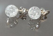Bergkristallohrringe, Ohrstecker, Silber 925 NEU