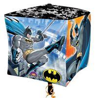 """Batman 15"""" Cubez Foil Balloon - DC Superhero Birthday Party Decorations"""