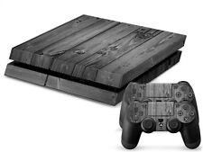 SONY PS4 PlayStation 4 SKIN Design Adesivo Pellicola Protettiva Set - Grey legno