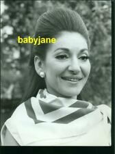 MARIA CALLAS VINTAGE 8x11 PHOTO CANDID PORTRAIT IN ROME 1969 TO APPEAR IN MEDEA