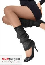 modisch Winterliche Beinstulpe schwarz