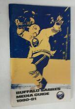 Vintage Hockey 1980-81 BUFFALO SABRES  Media Guide Rare NHL