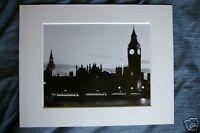 london cityscape big ben by night skyline picture photo art print black & white