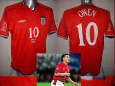 England Michael Owen Shirt Jersey Football Soccer Adult L 2002 Liverpool Top