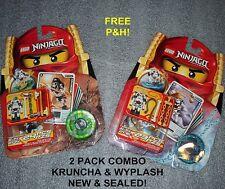 LEGO  NINJAGO Figures - KRUNCHA & WYPLASH    NEW & SEALED!   2 PACKS